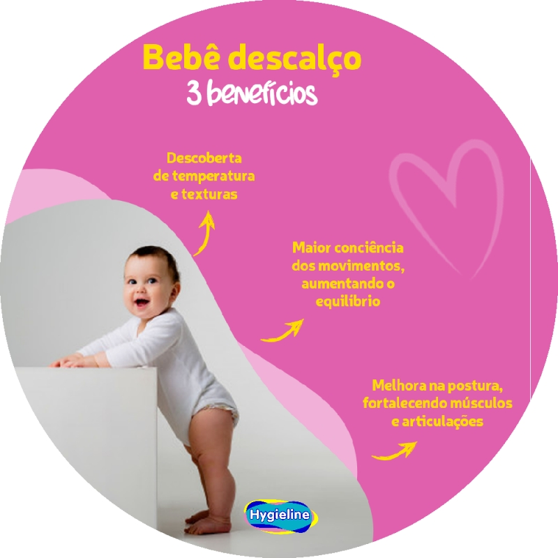 Bebê Descalço 3 benefícios